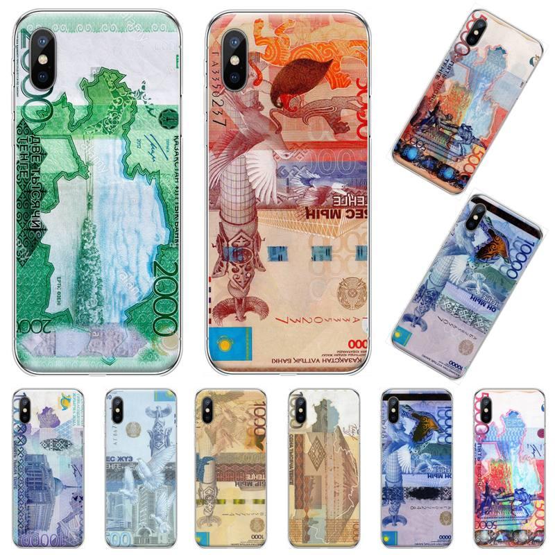 República de Kazajstán Tenge dinero Coque caja del teléfono Shell para iphone 4 4s 5 5s 5c se 6 6s 7 8 plus x xs x xr 11 pro max