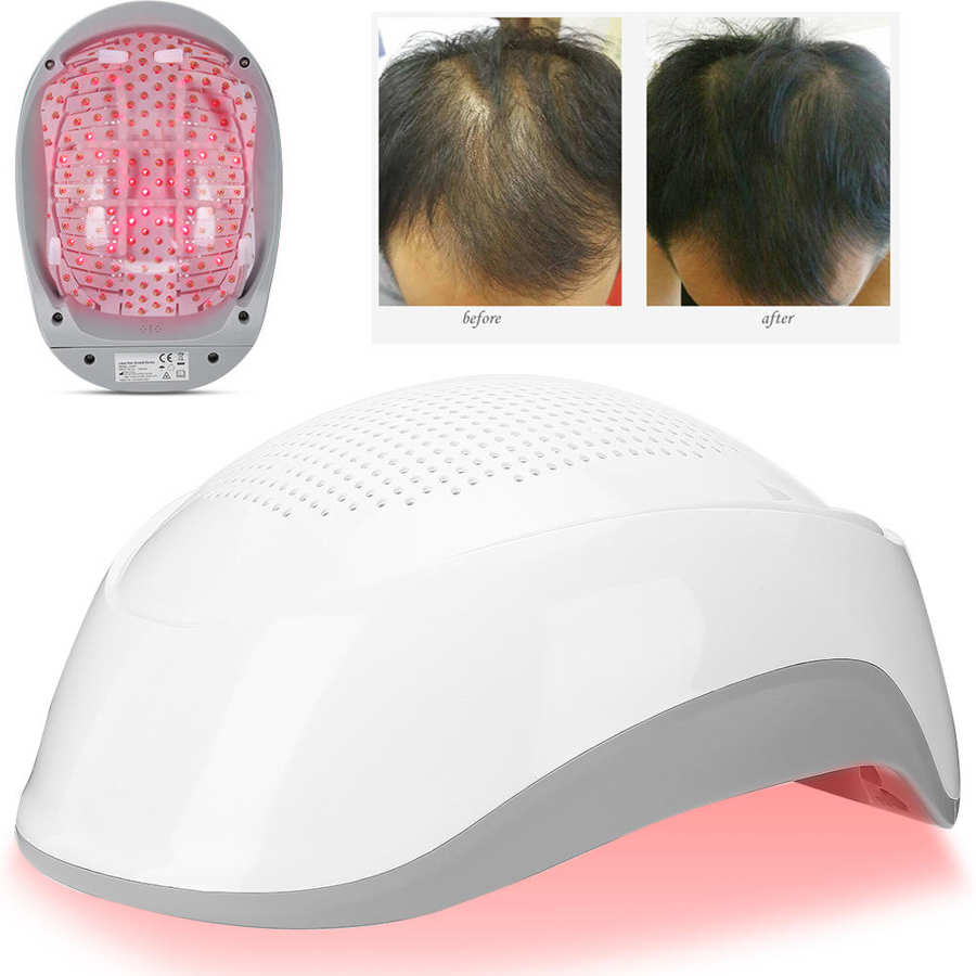 Hair Growth Devices Laser Helmet 180pcs Light Chips Laser Hair Regrowth Hat Gray Hair Promoter Regrow Fast Treatment Cap