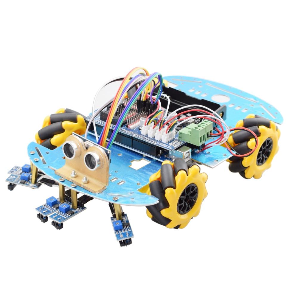 خط تتبع تجنب عقبة الذكية اردوينو Mecanum عجلة سيارة روبوت عدة مع Mega2560 بالموجات فوق الصوتية الاستشعار تتبع وحدة لتقوم بها بنفسك