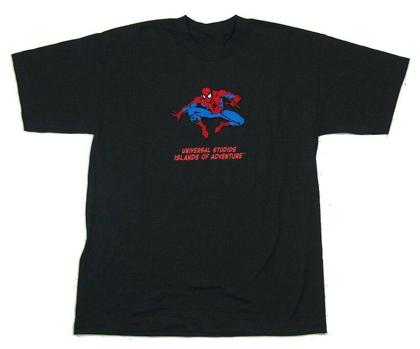 Spiderman flocado Marvel Comics negro camiseta Xl nuevo 1999 Vintage Nos nueva camiseta divertida Unisex