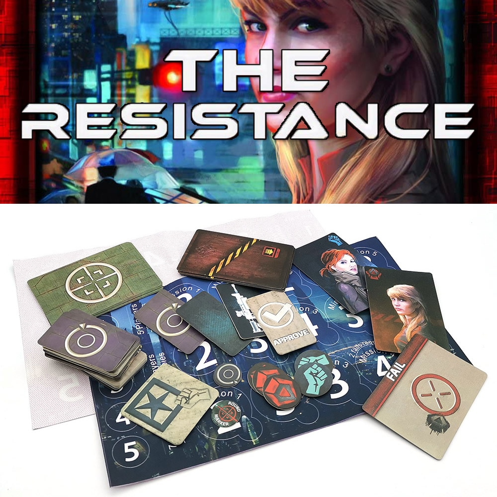 2021 The Resistance Game English Version Home Party for Adult Kids  Series Board Game Playing Cards Game Gifts Free  Shipping astronaut the crew board game for the quest for planet nine english version poker card game