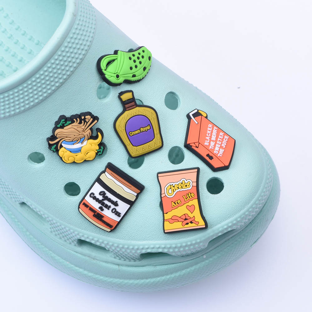 Custom Inspired Shoes Charms Money Juice Clog Shoes Decoration Accessories For crocks Charms Cartoon