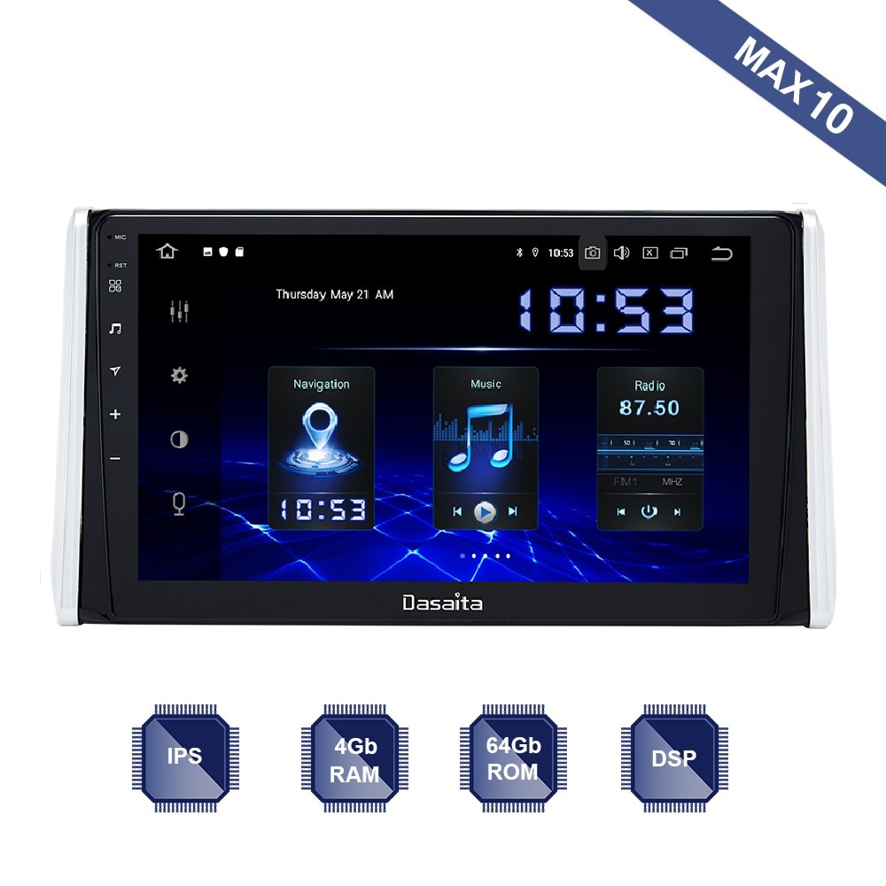 Android 10 Car Radio 2 Din Gps Navi For Toyota Rav4 2018 2019 2020 Px6 Dsp Ips Hdmi Video 4gb 64gb Rds Wifi Bt Aux Map Carplay Car Multimedia Player Aliexpress