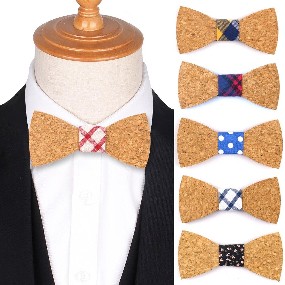 Мужские и женские галстуки-бабочки в горошек, деловые галстуки-бабочки, галстуки для свадьбы, деревянные Галстуки