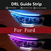 auto headlight decorative lights turn signal for phone mp3 for ford mondeo focus 2 3 mk2 mk3 mk4 fiesta mk7 ranger kuga fusion