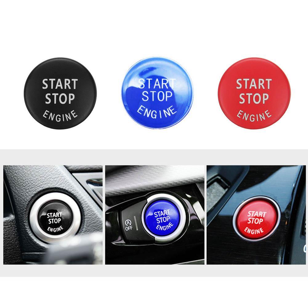 Car Engine START Button Replace Cover STOP Switch Accessory Key Decor for BMW X1 X5 E70 X6 E71 Z4 E89 35 Series E90 E91 E60
