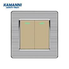 Kamanni выключатель света,настенный светильник-переключатель 1 банда 2 пути ста  ндарт ЕС кнопочный переключатель 1/2/3/4 банда 1/2 способ ЕС розетка жалюзи пере  ключатель стеклоподъемника