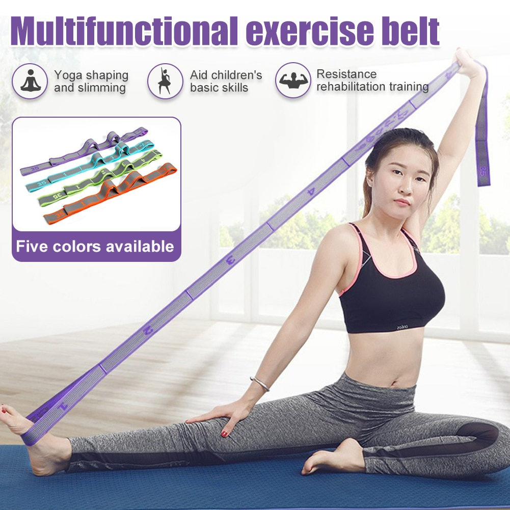 Yoga Stretch Resistance Band Unsex Pilates Latin Training Bands Loops Strap No Peculiar Smell Muscles Massage Physical Therapy yoga elastic stretching strap with loops exercise straps for physical therapy pilates ballet hamstring stretch bands