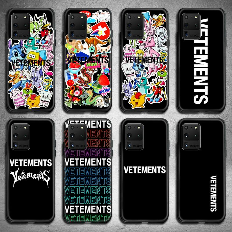Luxury Street Trend Simple Vetements Phone Case for Samsung S20 plus Ultra S6 S7 edge S8 S9 plus S10