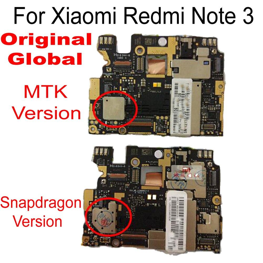 Placa base 100% desbloqueada para Xiaomi Redmi Note 3 placa lógica de trabajo completo con Chips para Redmi Note 3 Firmware Global