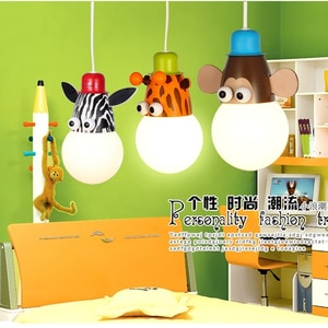 Modern Cartoon Children's Room Chandelier Cute Monkey Wall Lamp for Living Room Bedroom Bedside Lamp