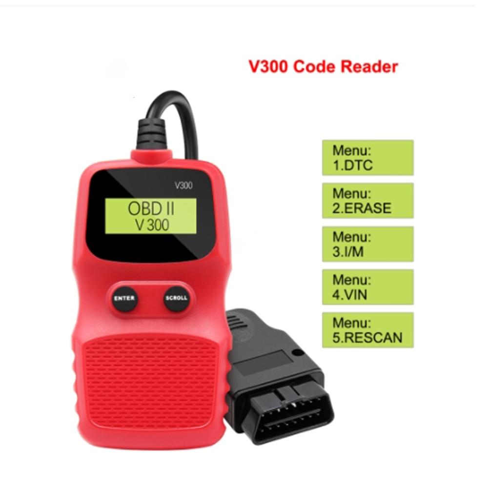 V300 رمز القارئ OBDII/EOBD autootivo رمز القراء أداة مسح ضوئي OBD OBD2 سيارة التشخيص السيارات أداة obd2 الماسح VS ELM327 V1.5
