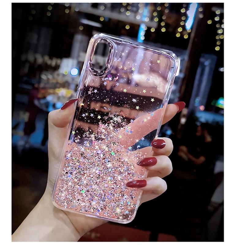 Glitter Pailletten telefon Fall Für Xiaomi redmi hinweis 4 8 8A Mi 5X 6X A1 A2 MIX 2 MAX 2 HINWEIS 5 Pro Pocophone F1 weiche stars Abdeckung