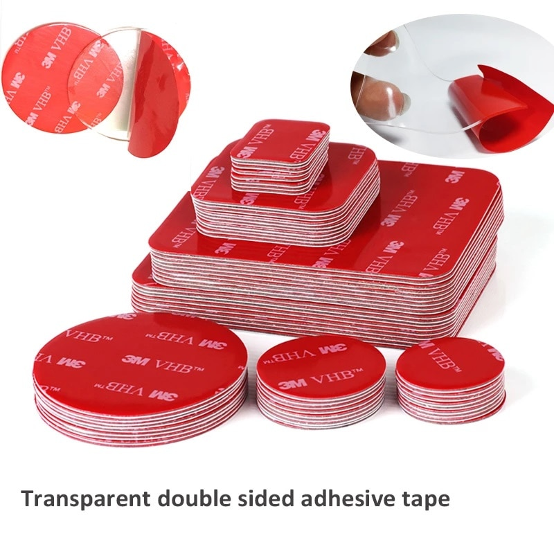 AliExpress - Transparent Acrylic Double-sided Adhesive Tape VHB 3M Strong Adhesive Patch Waterproof No Trace High Temperature Resistance