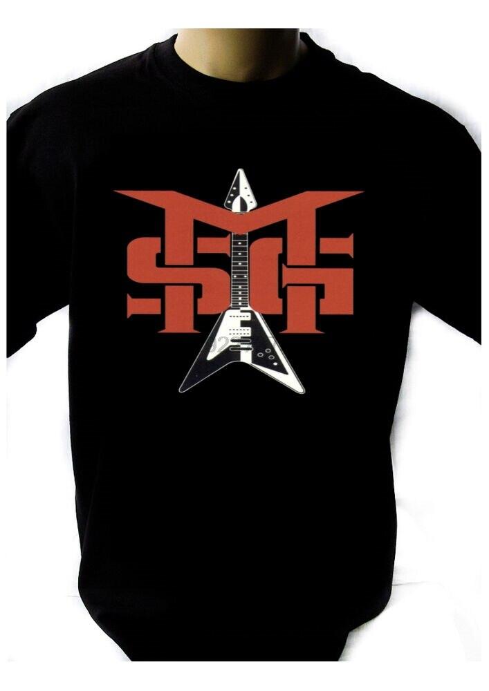 Camiseta con LOGO del grupo MSG MICHAEL SCHENKER negra banda de Rock