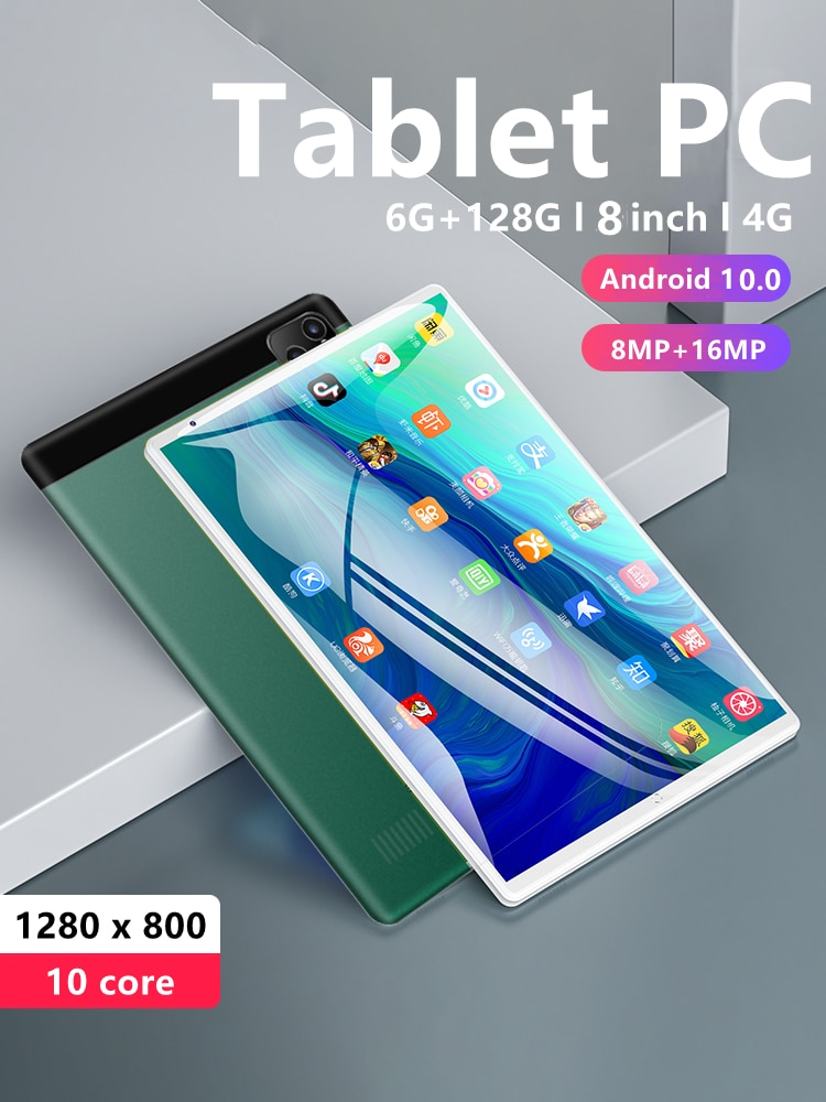 P80 8 inch'' Tablet PC 6GB RAM 128GB ROM Network TABLET PAD MT6797 4G 10 Core Tablet android android
