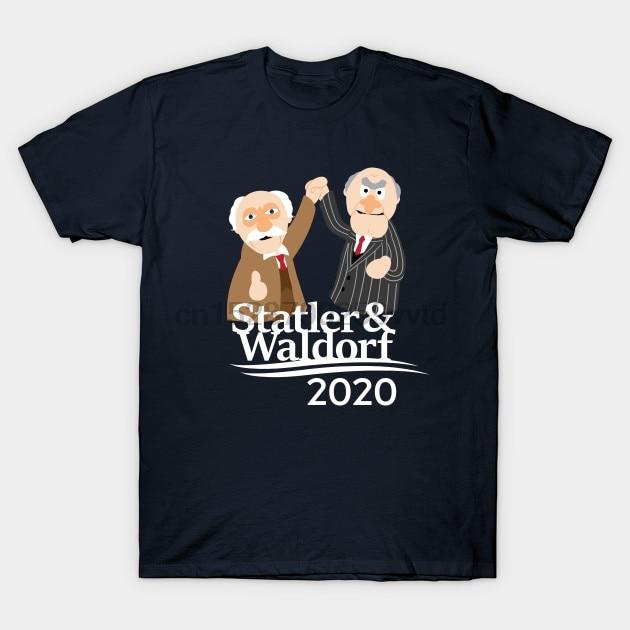Hombres camiseta Statler & amp Waldorf 2020 Muppets T camisa mujeres camiseta camisetas top