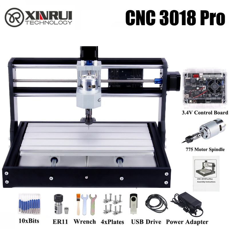 CNC 3018 PRO Machine GRBL CNC Milling ER11 Hobby DIY Engraving Laser Engraver for Wood PCB PVC