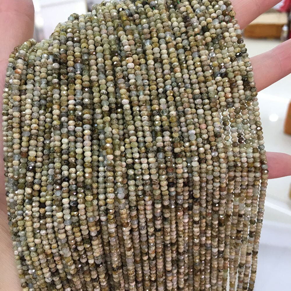 Ágata natural contas ábaco contas soltas contas para fazer diy jóias colar pulseira acessórios tamanho 2x3mm