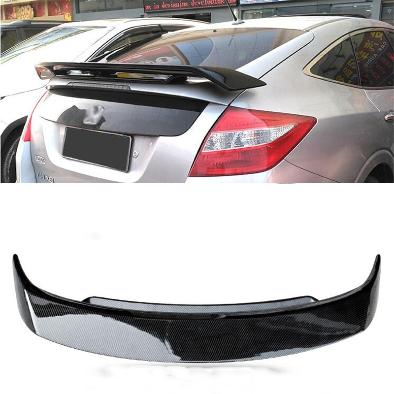 FOR Rear Window Spoiler Wing Honda Accord Crosstour ABS Double Tail Fin Accord Hatchback Car Accesso