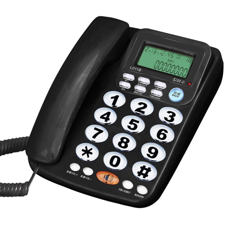 هاتف بدون استخدام اليدين مع مكبر صوت ، هاتف سلكي مع زر كبير للاتصال ، لوحة هاتف منزلية كريستالية