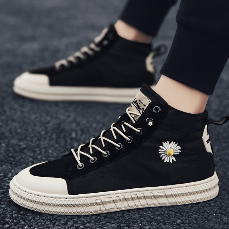 New trendy brand breathable casual Korean version of all-match comfortable casual high-top canvas sh