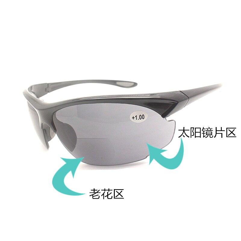 Óculos de sol leitoras de sol bifocal leitura unidade de segurança óculos de sol masculino feminino diopter leitura presbiopia oc gafas de lectura 2020