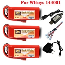 Wltoys 144001 car 2s 7.4 V 3300mAh Lipo battery Charger Set with T Plug for Wltoys 1/14 144001 RC ca