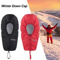 Winter Skiing Down Hat Hat Warm Waterproof Ear Covering Free Size Camping Hiking Snow Skiing Warm Hat For Envelope Sleeping Bag