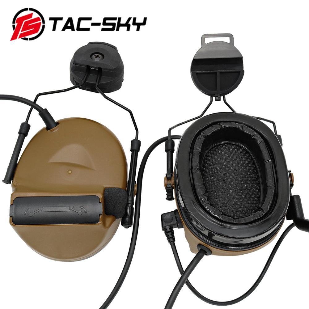 TAC-SKY COMTAC II helmet bracket silicone earmuffs hearing defense noise reduction pickup military shooting tactical headset CB