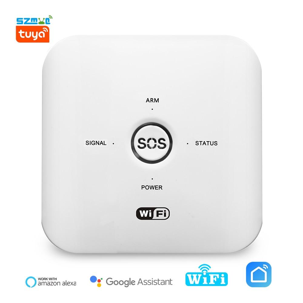Tuya Smart Wireless WiFi GSM Home Burglar Security Alarm System With Motion Sensor Kit APP Voice Remote Control Alexa Google enlarge