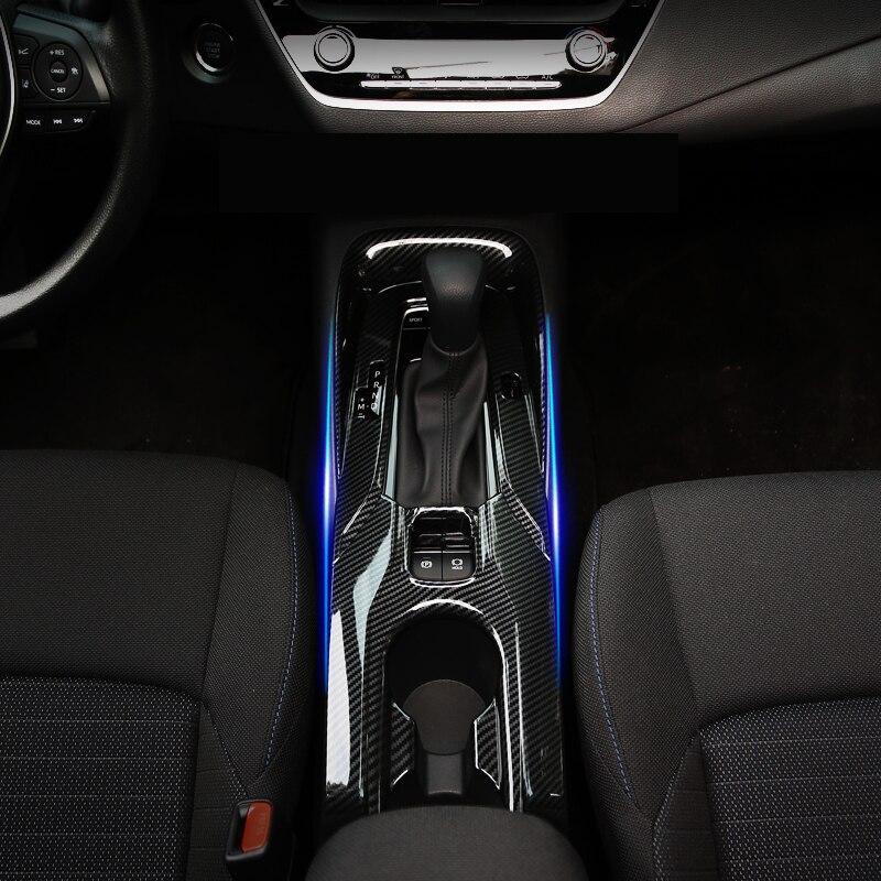 Ajuste para Toyota Corolla E210 2019 2020 estilo de coche ABS izquierda coche Etiqueta de panel de cambio de marchas cubierta ribete 1 Uds alto equipado solamente