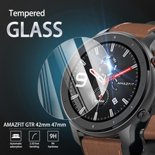 5Pcs 9H Premium Tempered Glass For AMAZFIT GTR 42mm 47mm Smartwatch Screen Protector Film Accessorie