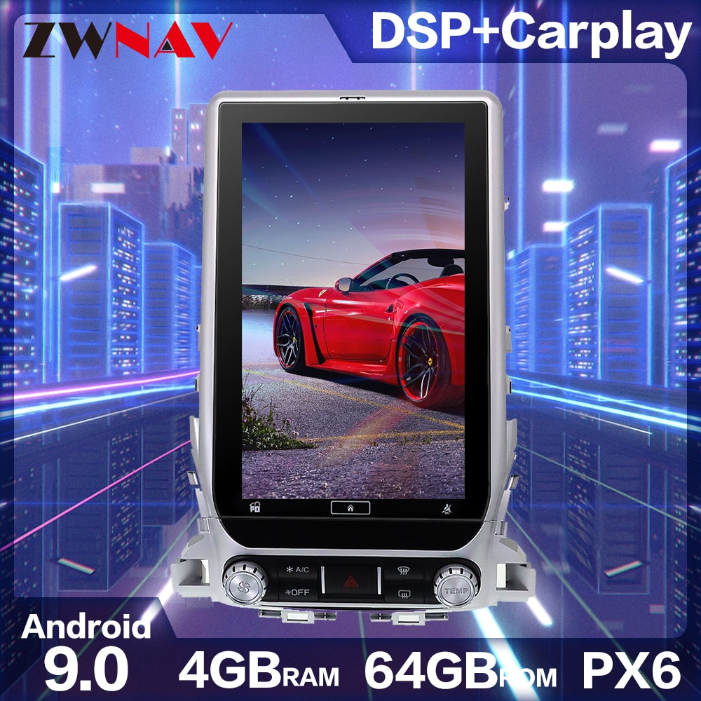 Tela Stereo Car Multimedia Player GPS DVD Rádio Navegação Android para Toyota Land Cruiser 200 J200 LC200 V8 Roraima 2015 ~ 2020