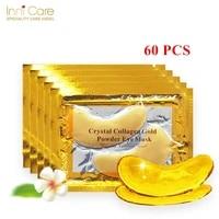 60pcs crystal collagen gold powder eye mask anti aging dark circles acne beauty patches for eye skin care korean cosmetics