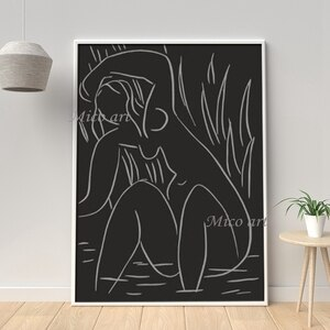 100% Handmade Picture Women Figure Black and White Hot Selling Oil Painting Style Wall Canvas Art No Frame Paintings Artwork