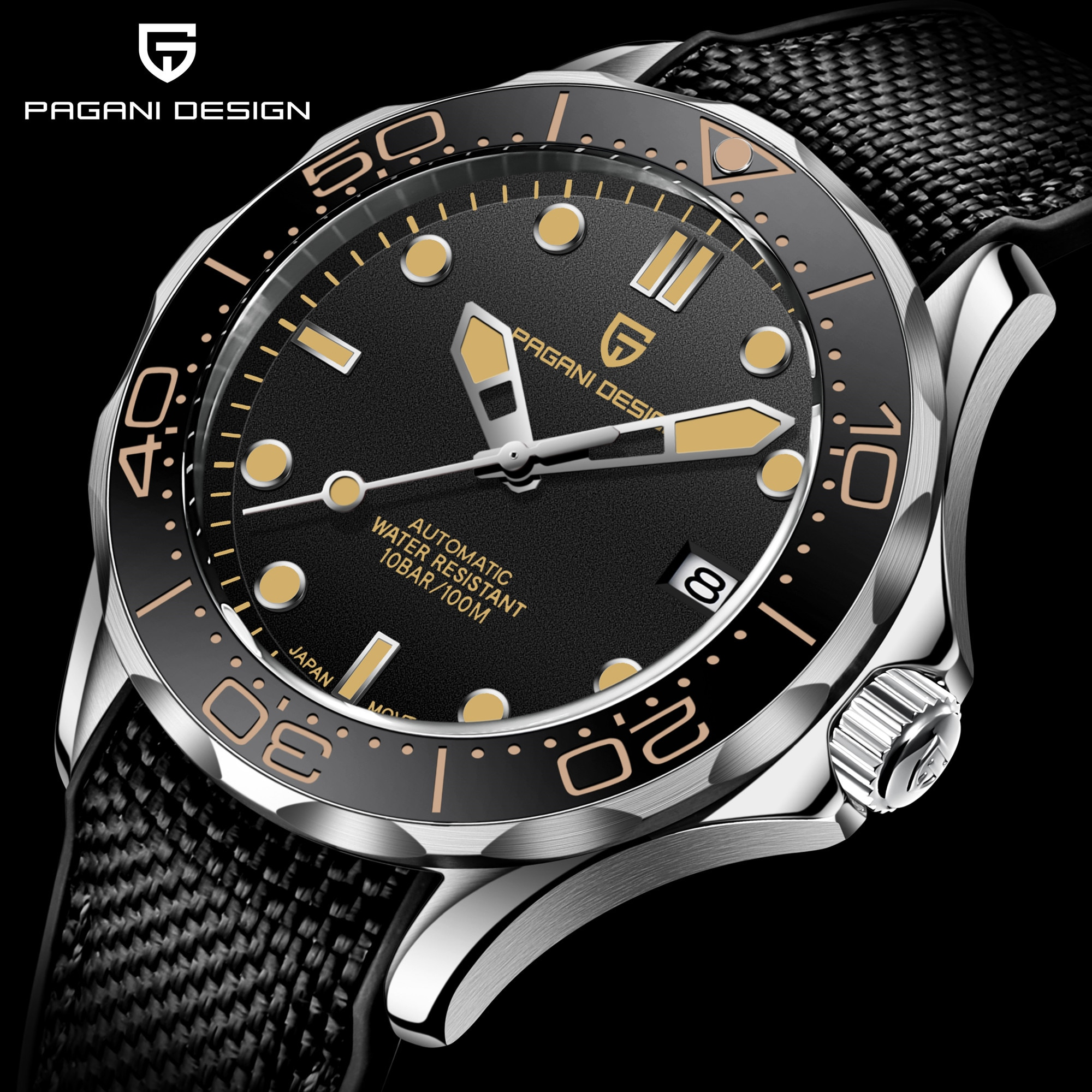 2021 New PAGANI DESIGN Men's Mechanical Watch Men Automatic Luxury Waterproof Sapphire Glass Leather