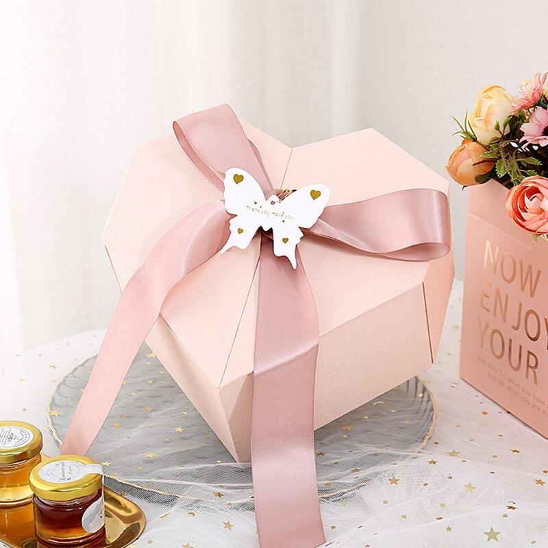 Cajas de flores de corazón de amor, Cubo de flores de floristería, caja de embalaje de regalo, caja de regalo para caramelos, Pintalabios, Perfume, cajas de almacenamiento, jarrón de salón, Dec