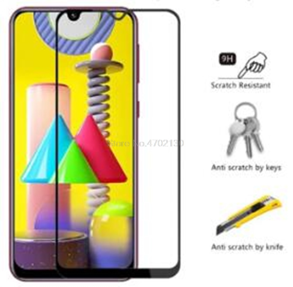 Pełna pokrywa szkło ochronne do Samsung m31 SM-M315F ochronne szkło hartowane do Samsung galaxy m 31 ochraniacz ekranu telefonu