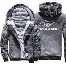 Neue Größe S-5XL 2019 neue ford mustang Hoodies Jacke Winter Mans Unisex Casual Wolle Liner Fleece Mann Mantel Sweatshirts Pullover