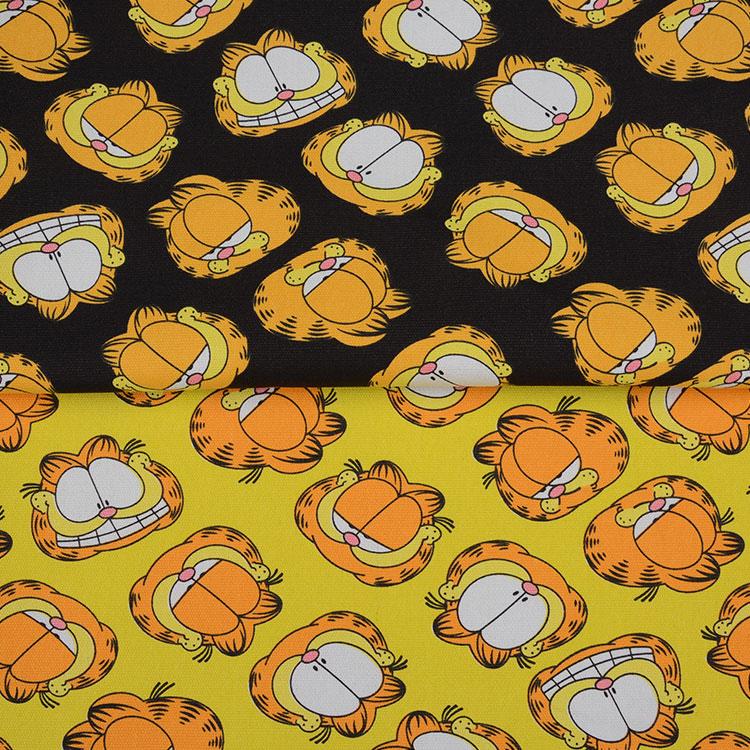 Cartoon Garfield Cat Printed Handmade Patchwork Cotton Canvas Fabric Sewing Bag Pillow Diy Tablecloth Curtain Sofa 91cm*145cm