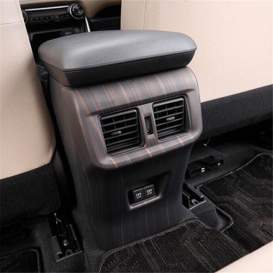 Caja de reposabrazos Lapetus Anti Kick Panel salida de aire acondicionado cubierta embellecedora para TOYOTA RAV4 RAV 4 XA50 2019 2020 ABS fibra de carbono