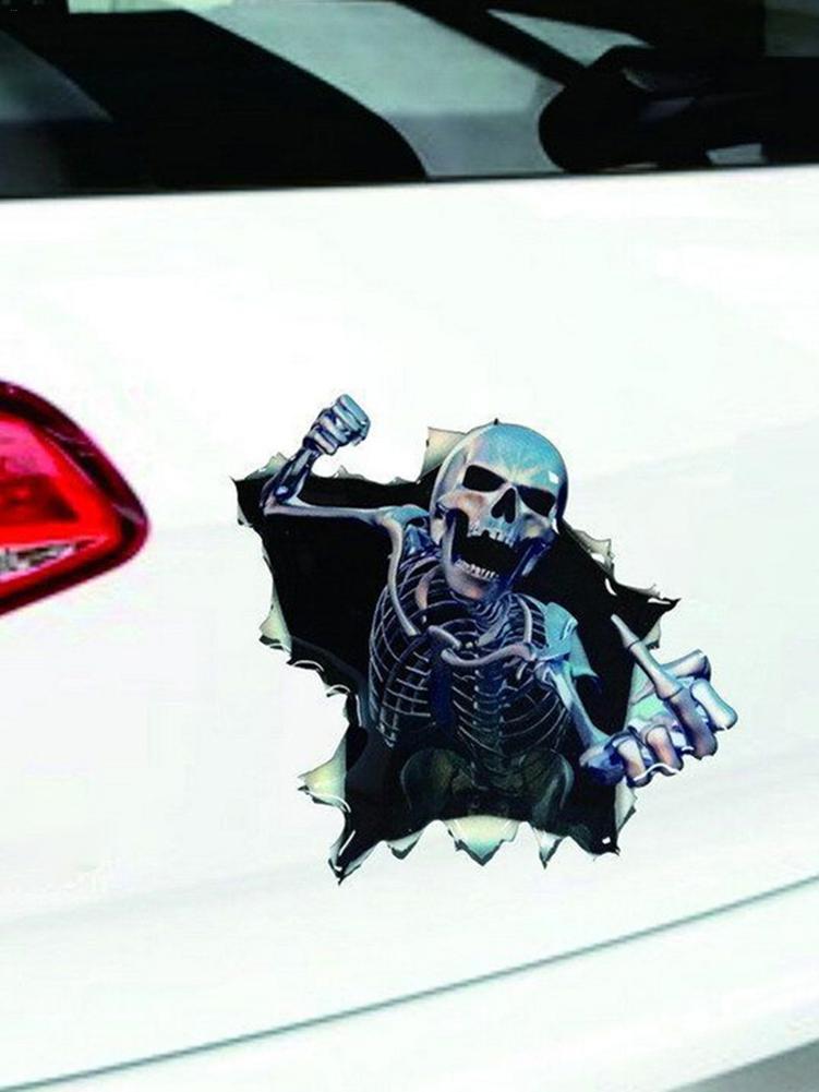 Автомобильные наклейки, 3D Автомобильная наклейка, наклейка в виде черепа, украшение, автомобильные товары, украшение, автомобильные аксесс...