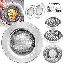Anti-Clog Sink Filter Stainless Steel Kitchen Sewer Sink Drain Strainer Pool Bathtub Anti-Clog Filter Metal Food Scum Leak Net