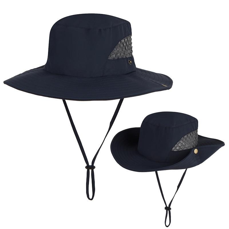 Уличная обувь для мужчин шапки Рыбалка Cap сплошной цвет шляпа с широкими полями анти-УФ-пляжная хип-хоп для парней и девушек женская панама; ...