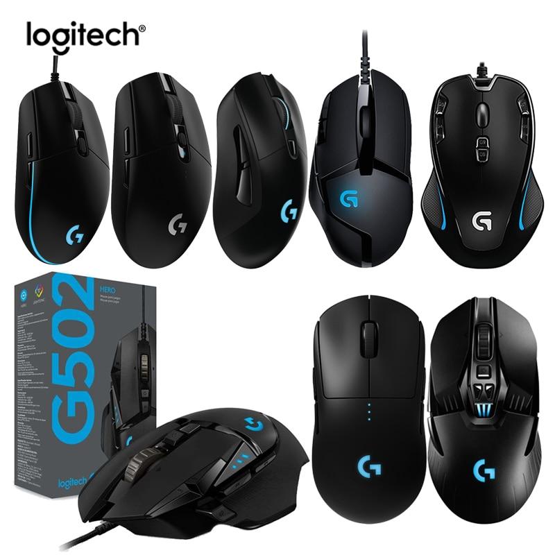 [해외] Logitech-GPRO G903 G703 G304 무선 게임용 마우스, G502 HERO G402 G300S G102 마우스 지원 데스크탑/노트북 오버워치 LOL