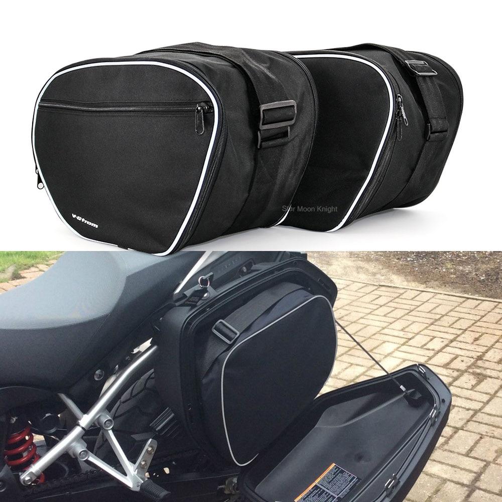دراجة نارية حقائب الأمتعة توسيع أكياس الداخلية الأسود الجذع أكياس الداخلية لسوزوكي V-STROM DL1000 DL 1000 فولت ستروم DL650 2014-2020