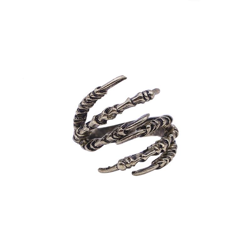 2017 nuevos anillos chapados en bronce con seis garras para mujeres y hombres, anillo gótico Vintage genial, joyería de moda exagerada, envío gratis