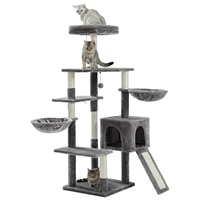 dropshipping cat tower featuring with sisal covered scratching posts spacious condo and large perch for small to medium cats