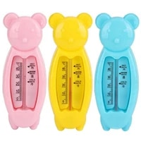 1pc cartoon floating lovely bear baby water thermometer kids bath thermometer toy plastic tub water sensor thermometer